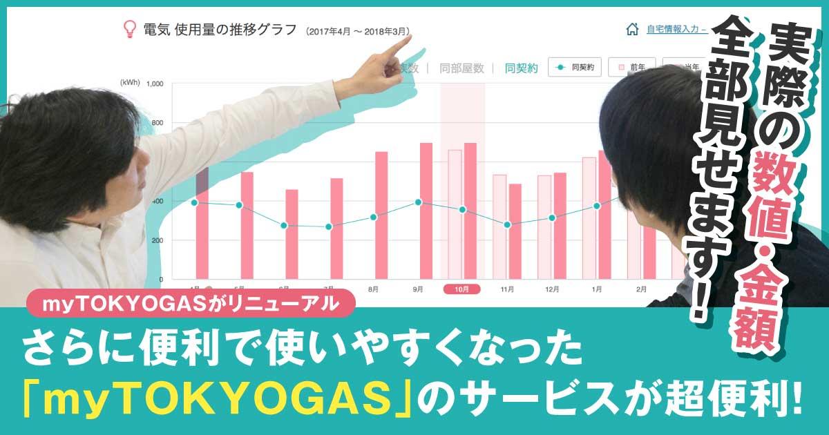 【myTOKYOGASがリニューアル】実際の数値・金額を全部見せます!さらに便利で使いやすくなった「myTOKYOGAS」のサービスが超便利!